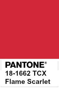 foto di Flame Scarlet Pantone 18-1662 tcx