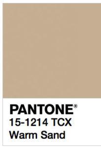 foto di Warm Sand Pantone 15-1214 tcx