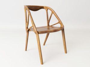 Foto elbo chair sedia realizzata con generative design