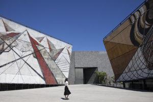 foto di Frida escobedo Talleras di David Alfaro Siqueiros a Cuernavaca, Messico