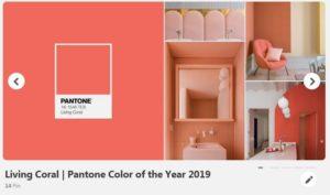 foto living coral pantone 2019 design