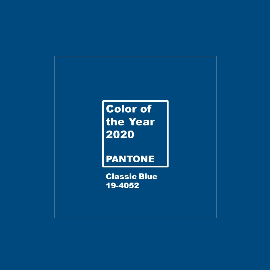 foto Classic Blue Pantone Color of the year 2020 colore dell'anno 2020